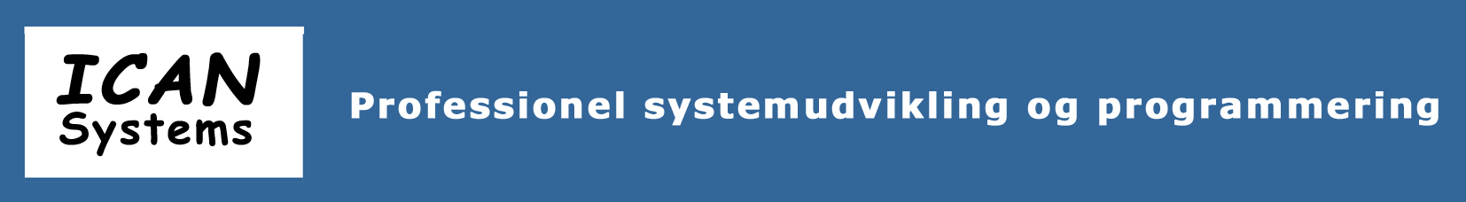 new products 3b32f f2173 ICAN Systems ApS - Professionel systemudvikling
